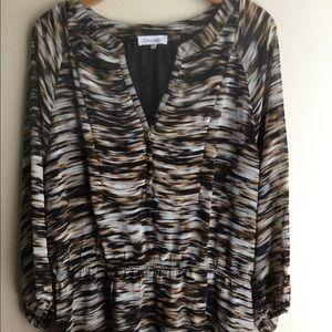 Calvin Klein Animal Print Top tunic Size XL